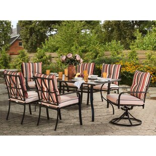 Critchlow 7 Piece Dining Set by Rosecliff..
