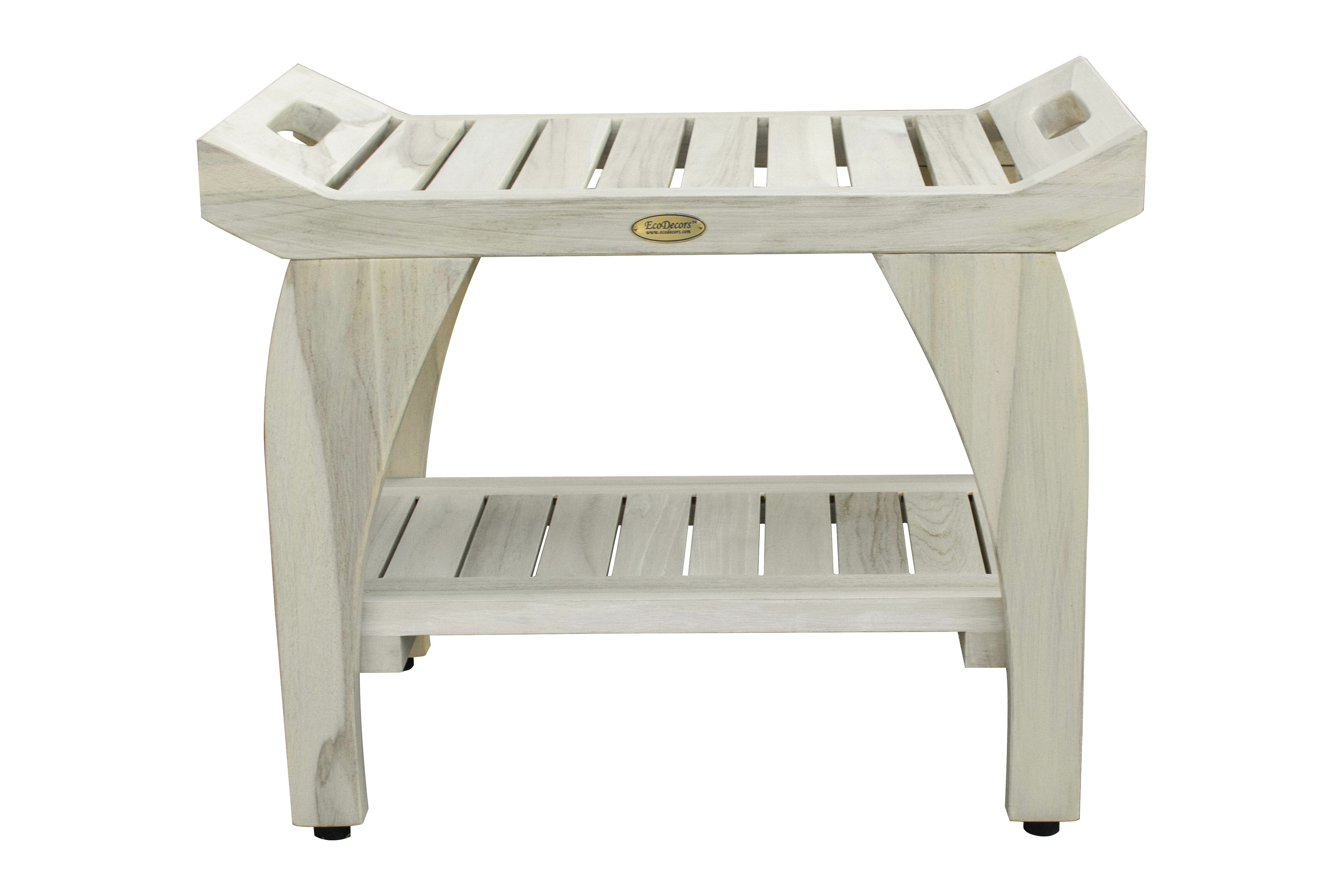 Picture of: Ecodecors Tranquility 24 W Teak Shower Bench Reviews Wayfair