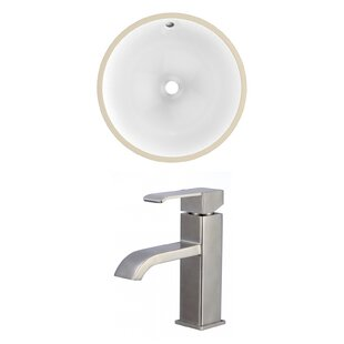 Reviews Ceramic Circular Undermount Bathroom Sink with Faucet and Overflow ByRoyal Purple Bath Kitchen