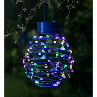 Outdoor solar lanterns wayfair hanging spring coil solar decorative lantern aloadofball Image collections