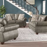 Macalla Upholstered Nailhead 3 Piece Living Room Set by Canora Grey