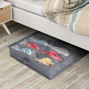 Top Reviews Under Bed Shoe Organizer Closet Storage Box (Set of 2) By Rebrilliant
