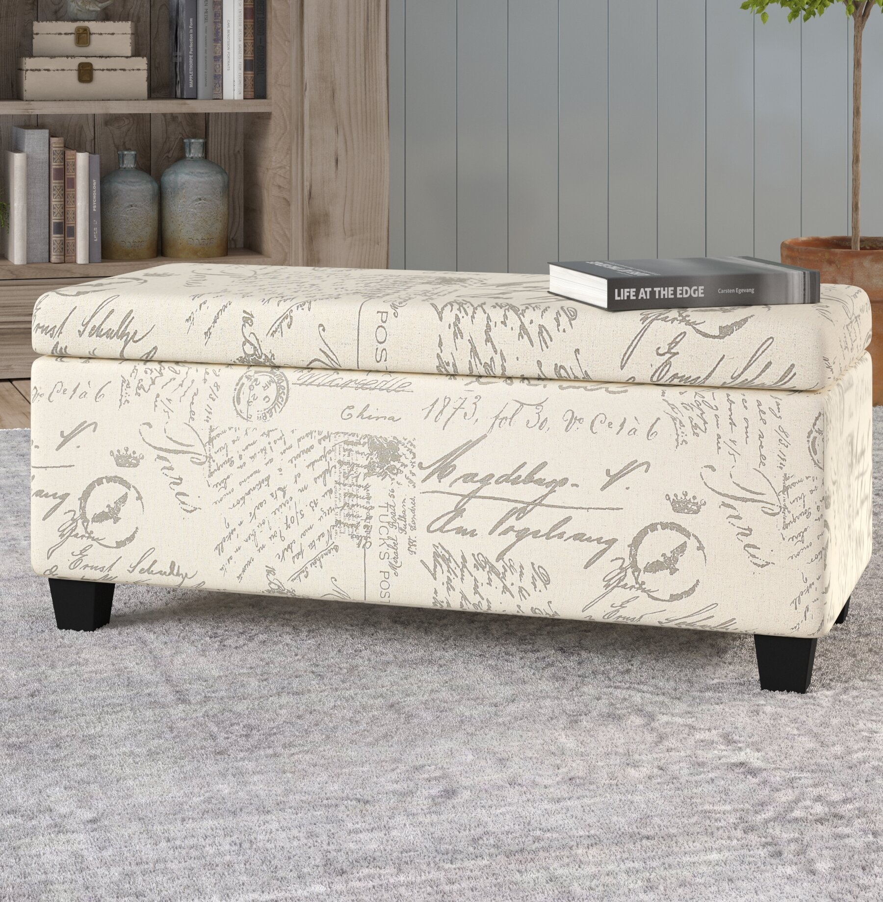 Cool Lark Manor Lemieux Fabric Storage Bench Reviews Wayfair Gmtry Best Dining Table And Chair Ideas Images Gmtryco