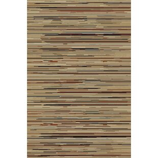 Find Edmont Jewel Striation Gold Stripes Area Rug By World Menagerie