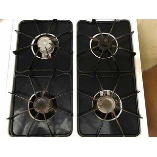 gas stove burner lit black stove cooktop burner cover gas covers wayfair