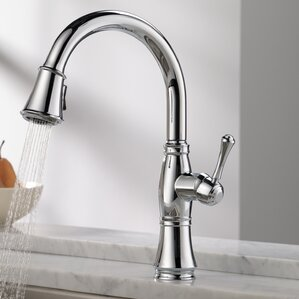 Delta Cassidy Single Handle Pull Down Kitchen Faucet with Spray