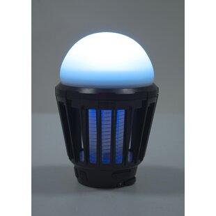 Alvarez Black Plug-In LED Table Lamp By Freeport Park