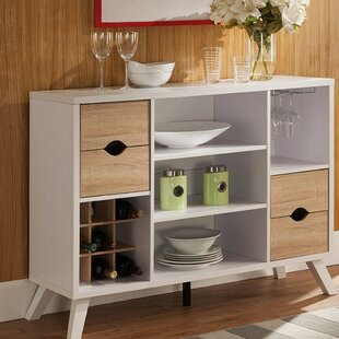 Voorhies Buffet Table with Wood Cutout Drawers by Latitude Run