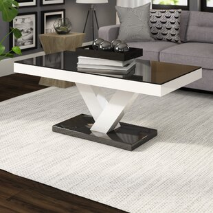 Best Price Thurmont Cross Legs Coffee Table By Wade Logan