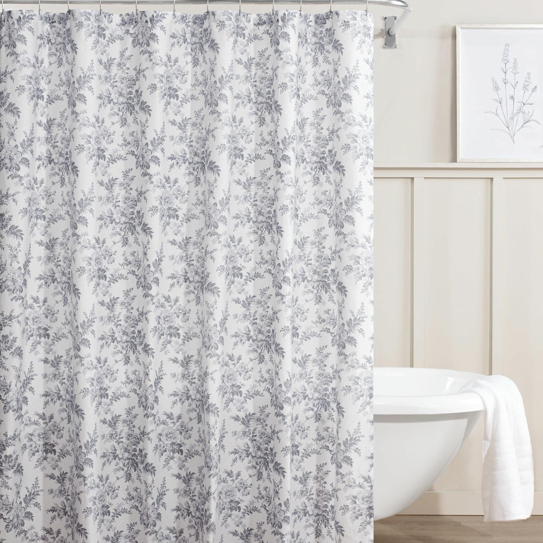 Laura Ashley Annalise Floral Cotton Single Shower Curtain Reviews