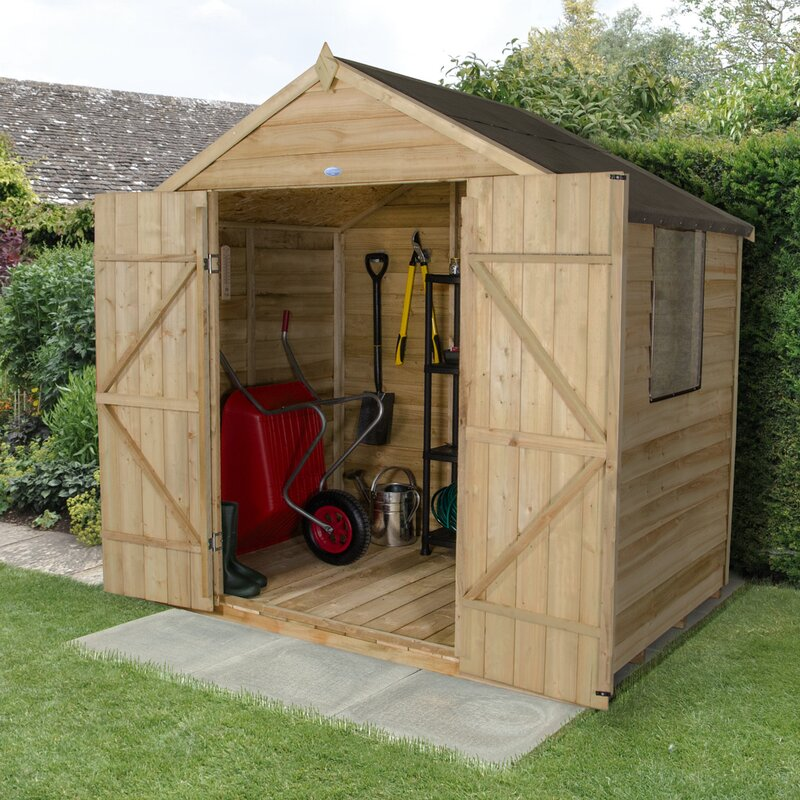 7 Ft. W X 5 Ft. D Wooden Storage Shed