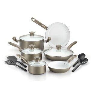 Initiatives Ceramic 14 Piece Non-Stick Cookware Set