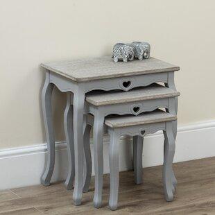 Kiska 3 Piece Nest Of Tables By Fleur De Lis Living