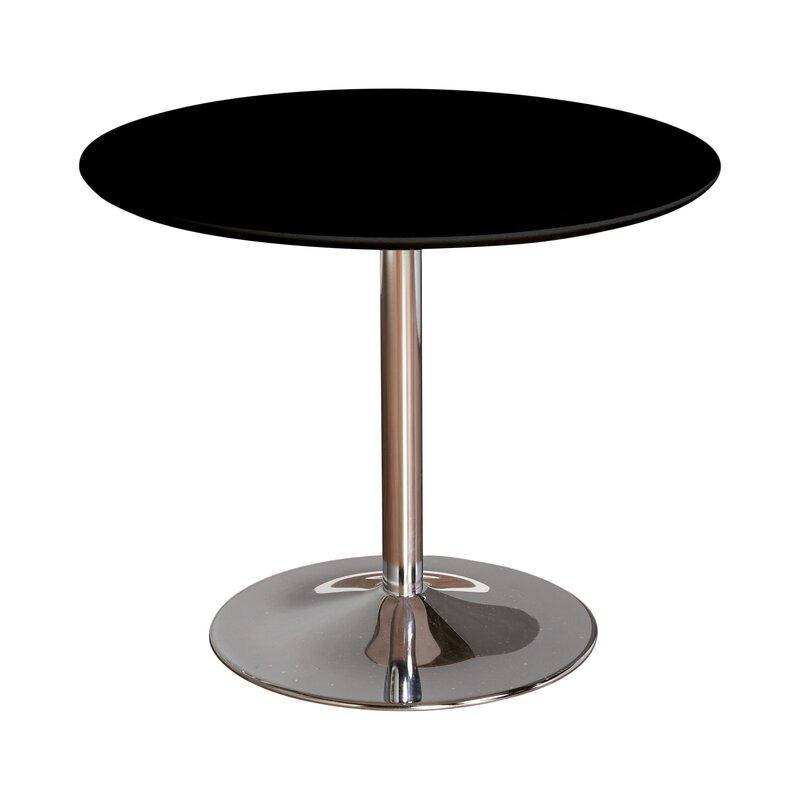 Zipcode Design Ember Metal Base Dining Table Reviews Wayfair