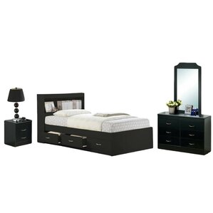 Configurable Platform 5 Piece Bedroom Set by Hodedah