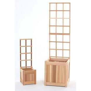 All Things Cedar 4 Piece Wood Lattice Panel Trellis Set