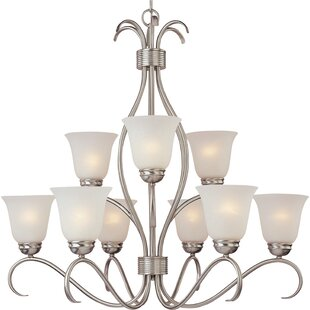 Alcott Hill Gullette 9-Light Shaded Chandelier
