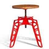 Renne Swivel Solid Wood Adjustable Height Bar Stool by sohoConcept