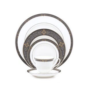 Vintage Jewel 5 Piece Place Setting Service for 1  sc 1 st  Wayfair & White Vintage Dinnerware Set | Wayfair