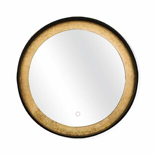 Online Reviews Menoher Circle Wall Mounted Backlit LED Bathroom Mirror ByWrought Studio