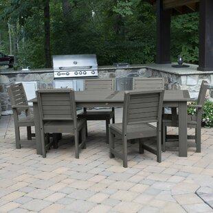 Darby Home Co Shondra 7 Piece Rectangular Dining Set