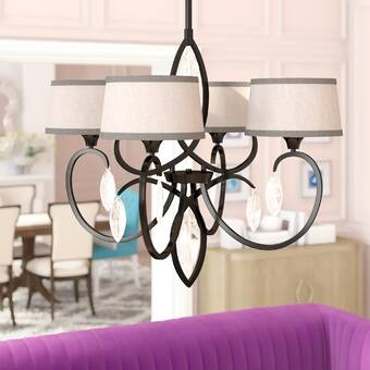 World Menagerie Collin 5 Light Shaded Classic Traditional Chandelier Reviews Wayfair