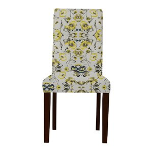 Beachwood Yellow Flowers Parsons Chair (Set of 2) by Latitude Run