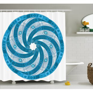 Alberto Abstract Fractal Artsy Single Shower Curtain