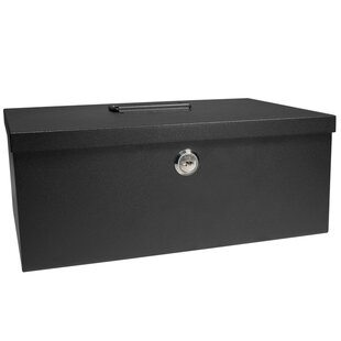 Cash Box and 6 Compartment Coin Tray with Key Lock by Barska