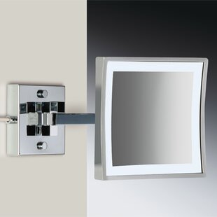 Budget Wall Mounted Square Magnifying Makeup/Shaving Mirror By Windisch by Nameeks