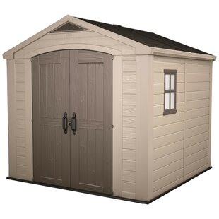 Factor 8 Ft. W X 8 Ft. D Apex Plastic Shed By Keter