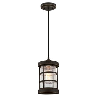 Gingras 1-Light Cylinder Pendant by Breakwater Bay