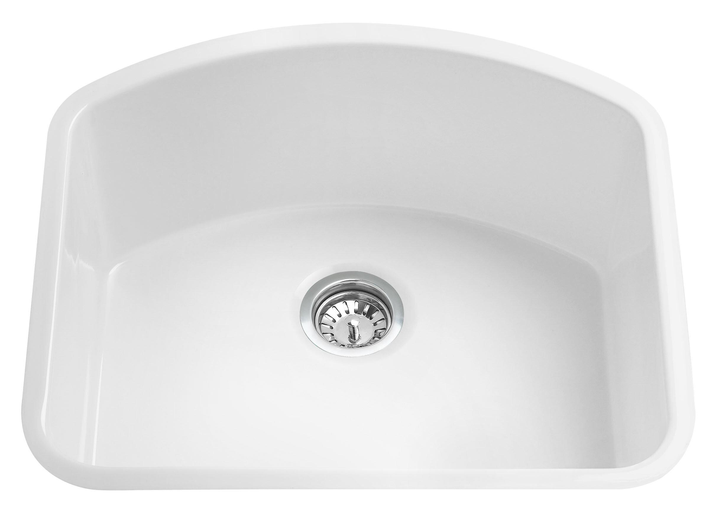 Alfi Brand 24 L X 21 W Undermount Kitchen Sink