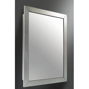 Price comparison Odalys Satin Wide Mirror Door 26 x 18 Recessed Framed Medicine Cabinet ByWinston Porter