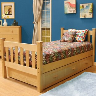 Velda Twin Slat Bed with Trundle by Harriet Bee