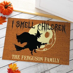 Almanza I Smell Children Personalized 18 In. X 27 In. Non-Slip Outdoor Door Mat By The Holiday Aisle