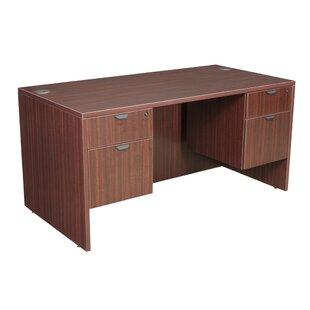 Latitude Run Linh Desk with Double Pedestal