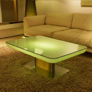 Sydni LED Plastic Coffee Table by Orren Ellis