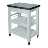 Denzil Compact Kitchen Cart with Stainless Steel Top by Winston Porter