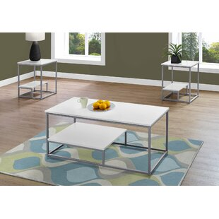 Tavon 3 Piece Coffee Table Set