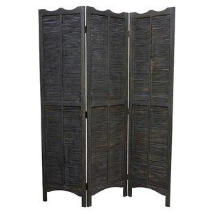 Charmine Wood 3 Panel Room Divider by Rosalind Wheeler