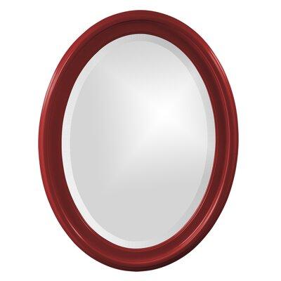 House of Hampton Houstonia Wall Mirror Finish: Red