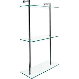 Latitude Run Majeski 3 Tier Glass Bathroo..