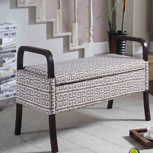 Latitude Run Powers Upholstered Storage B..