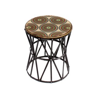Galle Round Metal Accent Stool by Bloomsbury Market