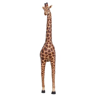 Design Toscano Malee Emerging Wall Grande Giraffe Animal Garden Statue