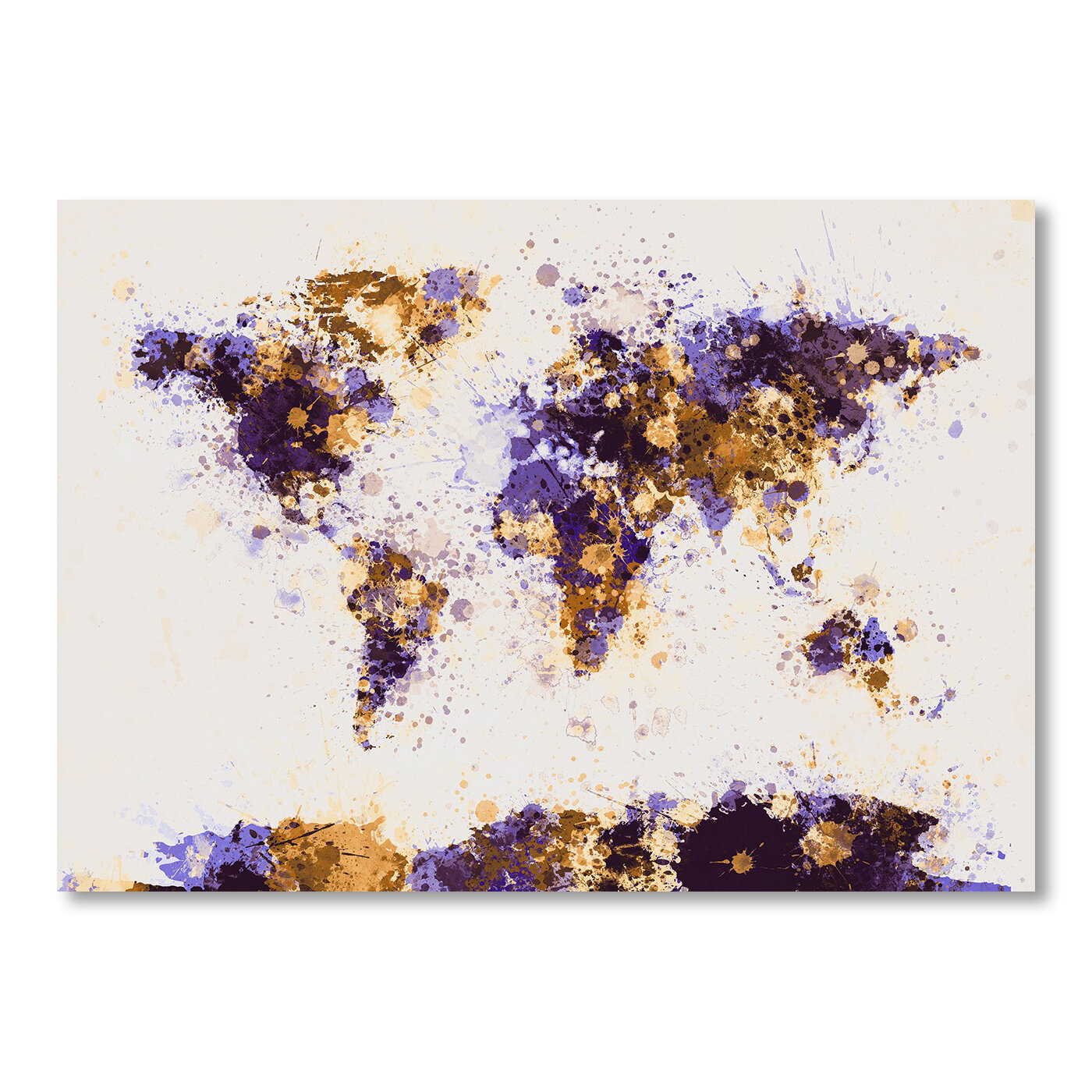 Ebern Designs Lanna World Map Watercolor Wall Mural Wayfair
