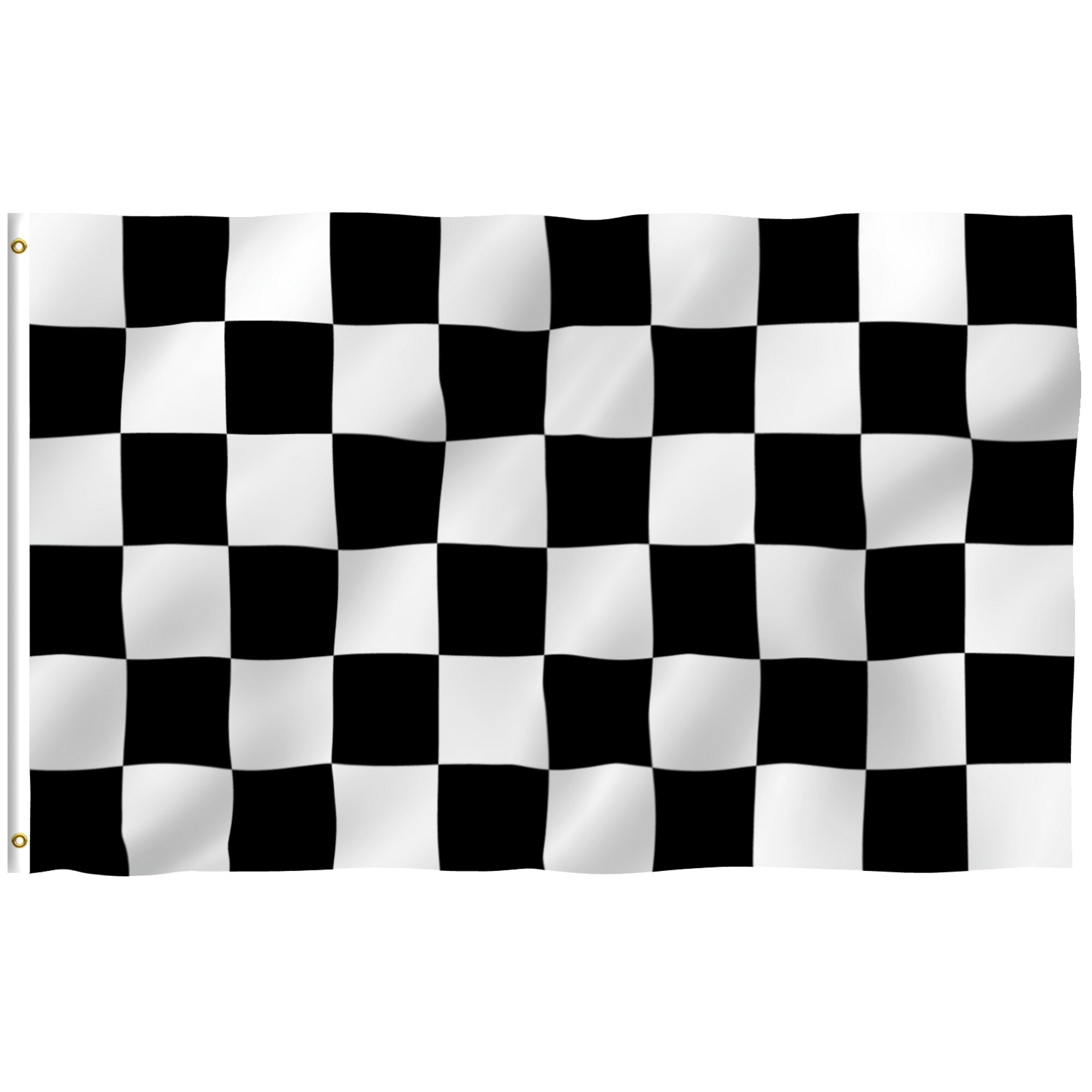Checkered Pink /& White Flag Banner 3/' x 5/' Polyester