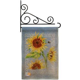 Summer Sunflower 2-Sided Burlap 19 x 13 in. Garden Flag