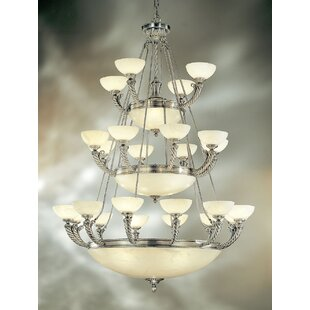 Classic Lighting Alhambra 36-Light Shaded Chandelier
